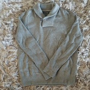 Sweater with Shawl Neck Collar and Button